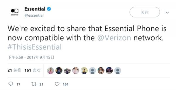 """""""四网全通"""" Essential Phone终于搞定Verizon网络"""