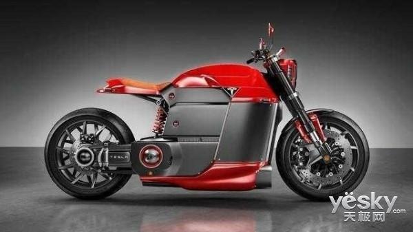 冲击哈雷:特斯拉电动摩托车Model M曝光