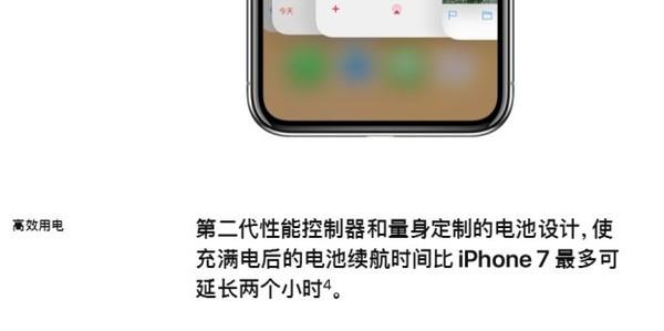 苹果官网对iPhone X电量的解读