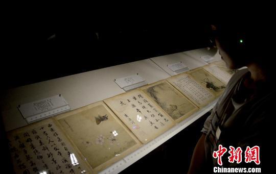 广州艺术博物院藏历代绘画精品展开幕 索有为 摄