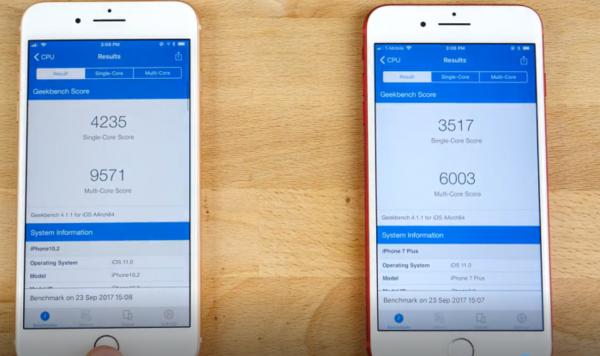 iPhone 8P和7P性能测试对比 结果很意外