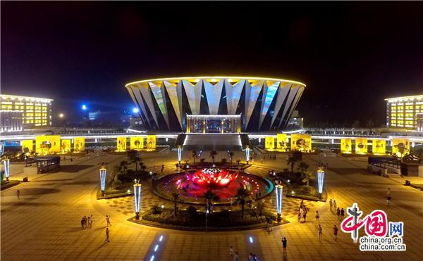 湖南邵阳提升城市形象 打造多元化夜景照明