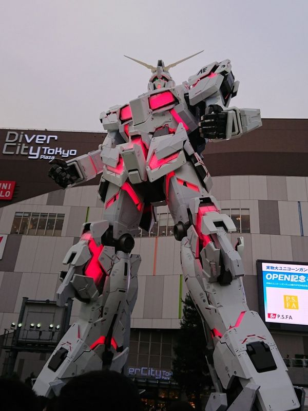 东京台场新等身高达独角兽亮相:机甲可变形