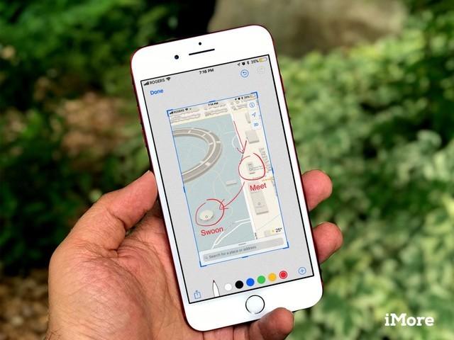 iOS11截图编辑界面(图片引自-外媒深度评测 不升级iOS 11你用什么