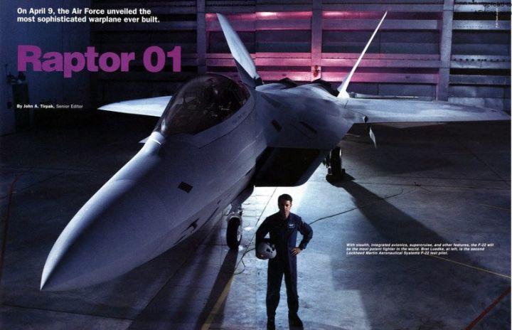 """传奇的终结 第一架和最后一架F-22""""猛禽""""战机"""