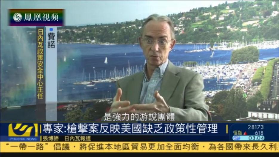 瑞士专家:赌城枪击案反映美国缺乏武器政策性管理