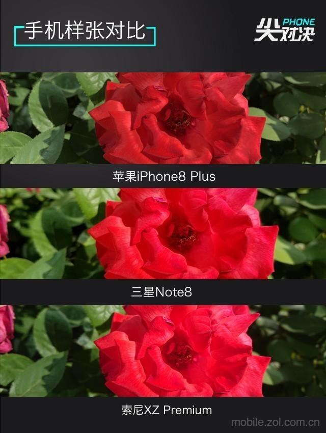 尖Phone对决 苹果iPhone8Plus搭载了最新的A11处理器,三星盖乐世Note8和索尼XperiaXZPremium均采用了高通最强的骁龙835移动平台。虽说835是对标苹果A10处理器的,但在骁龙845出来之前,它就是最强。目前iPhoneX还没上市,iPhone8Plus目前是苹果最强手机。可以说这三款手机目前代表了手机市场的最高标准。 目前苹果iPhone8Plus64GB的价格为6688元,三星盖乐世Note86GB+64GB价格为6988元,索尼XperiaXZPremium4GB+6