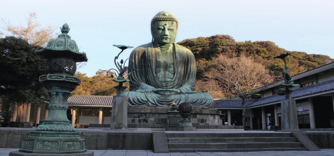 日本一11.3米的青铜大佛 据说材料是中国的铜钱