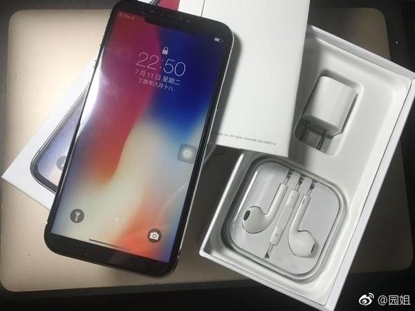 """网友购买的""""iPhone X""""及包装"""