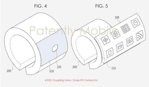 三星可穿戴式设备新专利:可折叠曲面屏智能手环