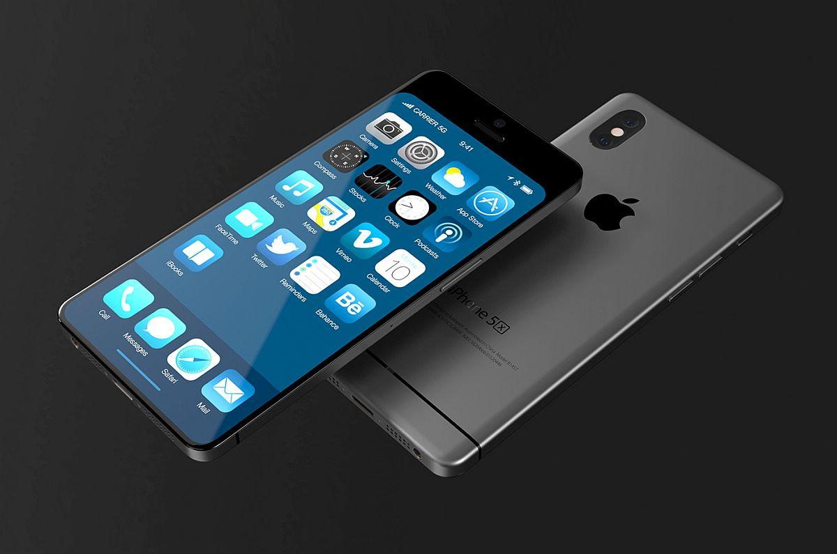 最新iphone 5x概念设计:全面屏 垂直双摄