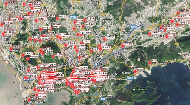 一张霸气的华南上市公司地图:深圳267家 非常