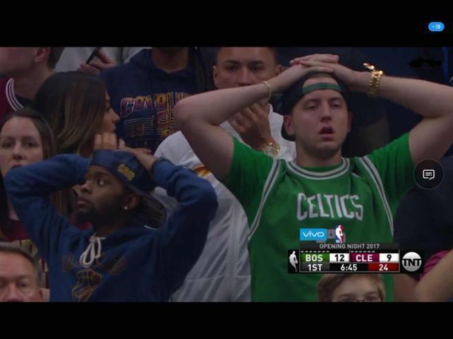 突发! NBA揭幕战海沃德重伤离场 詹姆捂脸不忍直视