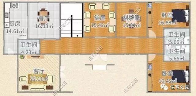 别墅内部结构平面图