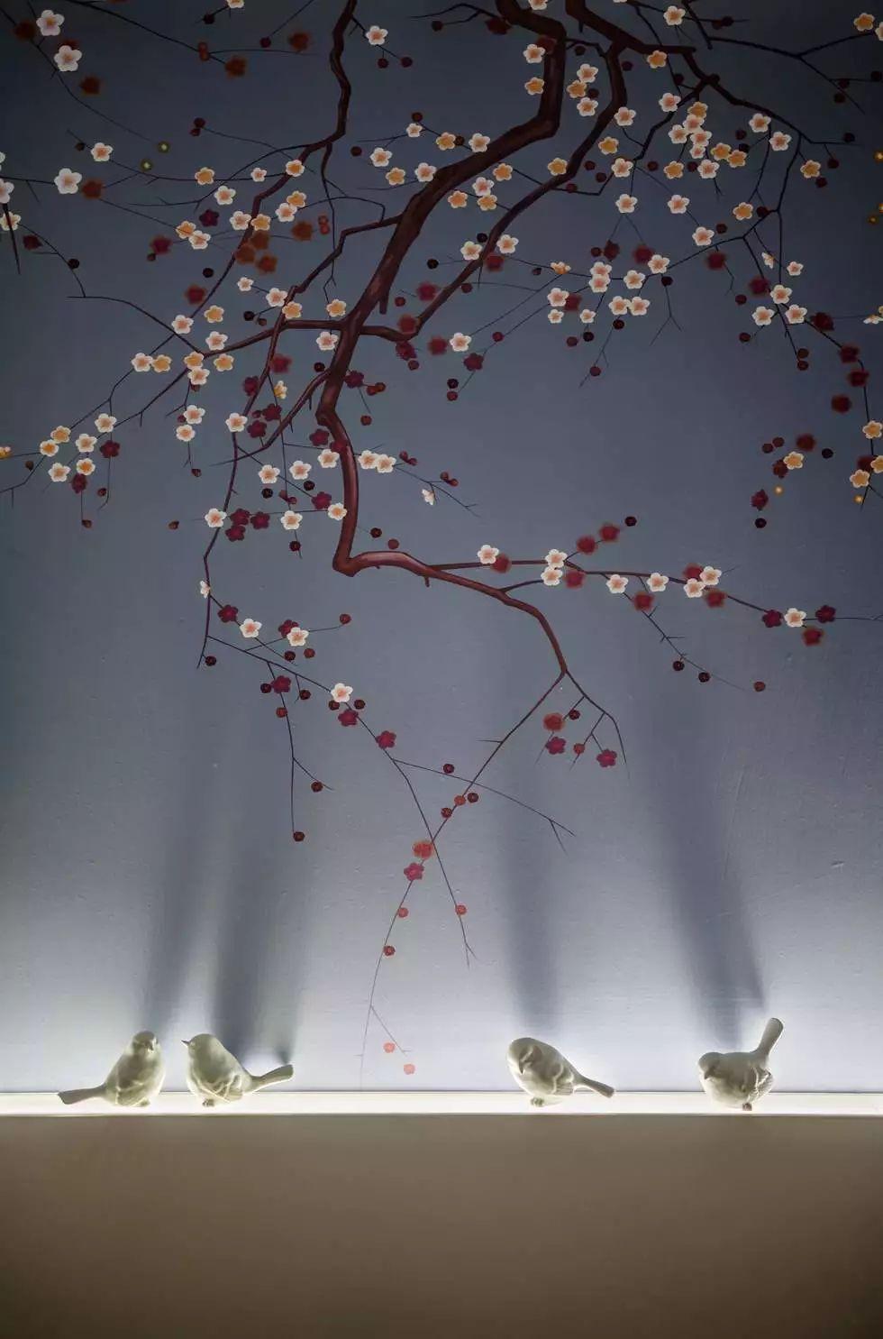 这套新中式真是美醉传奇私服1.80带英雄了,花鸟、树木,禅意、端庄