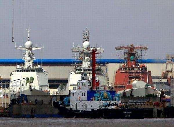 壮观!16艘军舰同港排建,这样的基地中国有4个