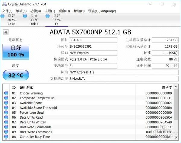 威刚 xpg gammix s10 512gb p