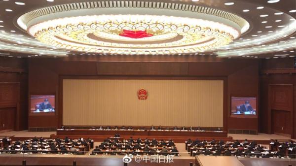 11月1日,香港马会资料大全开奖结果查询一,最高人民法院院长周强就人民法院全面深化司法改革的情况向全国人大常委会作报告。中国日报 图