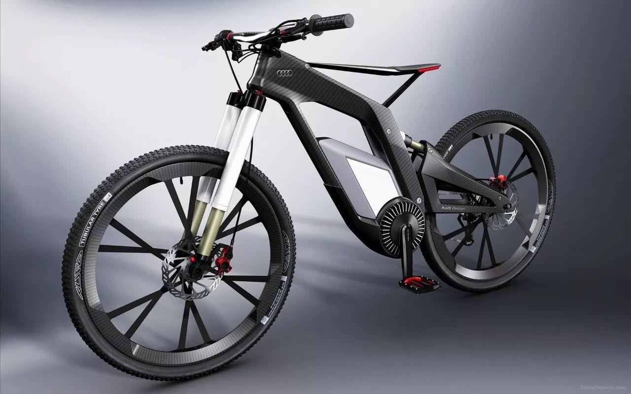 奥迪不务正业 造出了一辆快过汽车的自行车!图片
