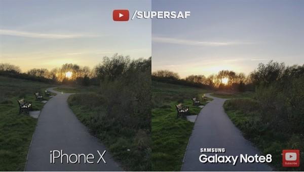 iPhone X拍照对比三星Note8 结局很意外