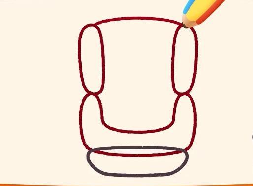 一分钟儿童简笔画:宝宝出行,安全坐椅保驾护航不可少!