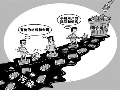 废弃手机回收难