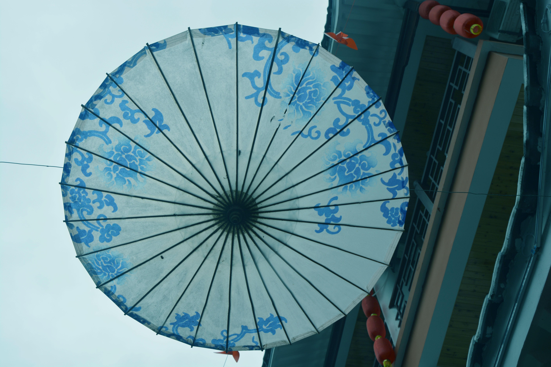 画纸伞步骤图解