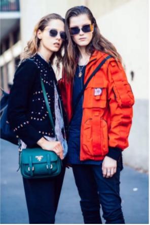 直击米兰巴黎,韩都衣舍大咖团摩登造型演绎街拍时尚