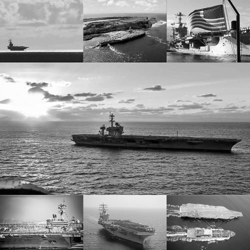 近年来首次!美国7艘核动力航母同时出海 (图)