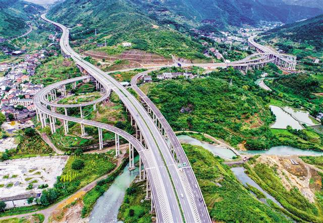 渝湘—南道高速大铺子互通图片