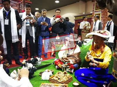 果洛州首届 高原特色农畜产品上海展交会开幕