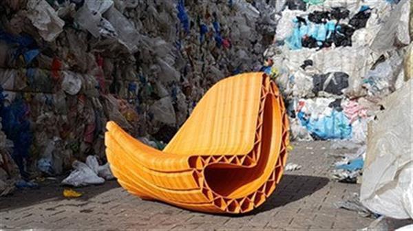 科技改变生活 3000个塑料袋3D打印沙发