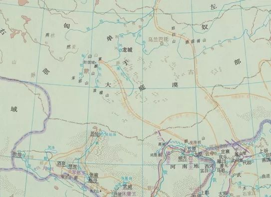 《中国史稿地图集》之《西汉与匈奴战争》图