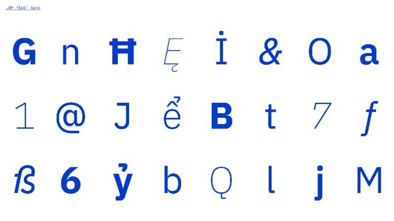 BM 推出首套字体,想用它表达人和机器之间的关系