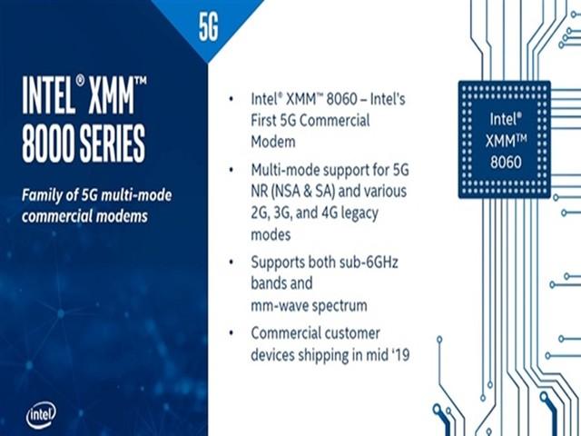 英特尔发布5G基带XMM 8060:苹果