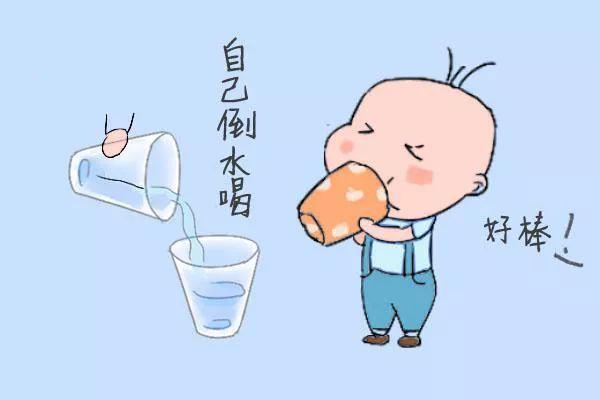 幼儿喝水图片卡通