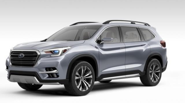2+2+3 座舱布局斯巴鲁即将发布大型SUV