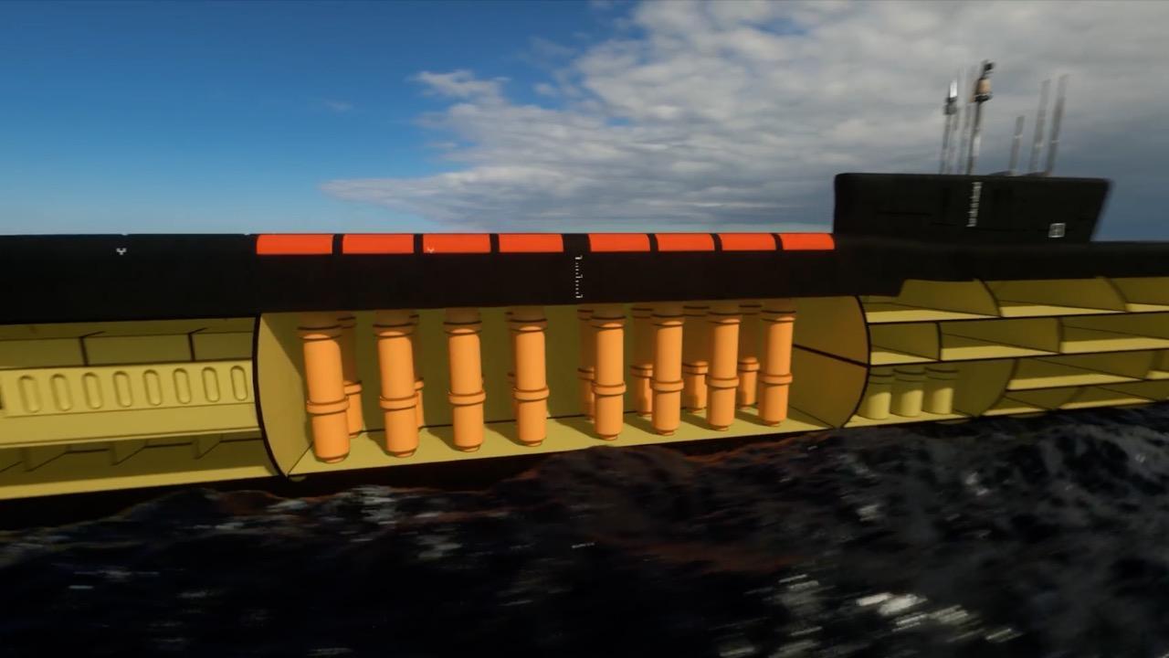核武器--2.4吨俄罗斯巨兽下水 中国094核潜艇真被甩几条街?