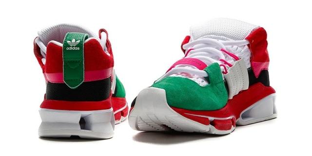 阿迪发布夸张解构版跑鞋,撞色设计造型前卫