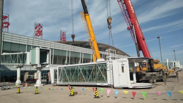 石家庄机场更新升级旅客登机桥