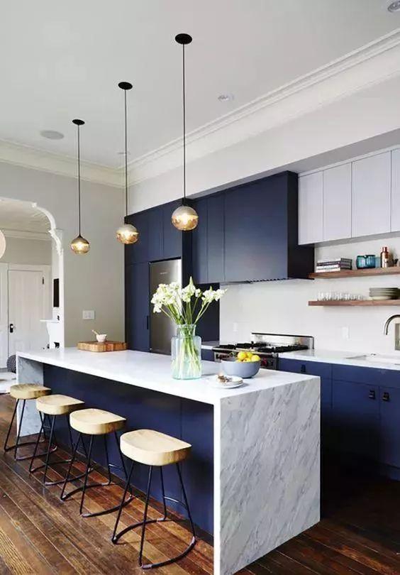 厨房岛台居然可以这样设计,再也不装橱柜洗手台了!