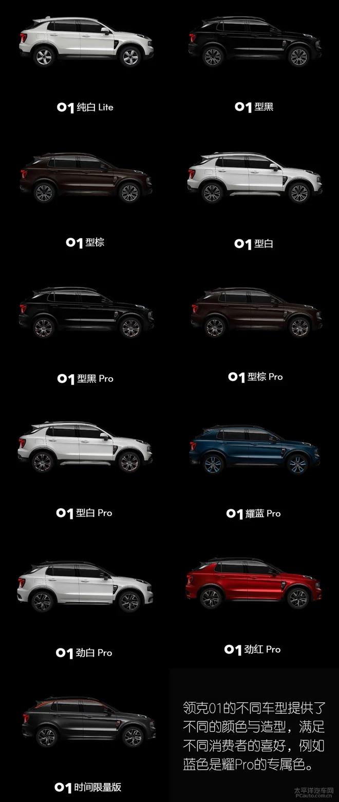 领克01推出的五款车型当中,哪一款最值得入手?