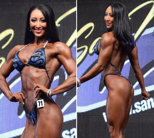 中国体坛32岁健身女神身材火辣 现被黑人运动员征服