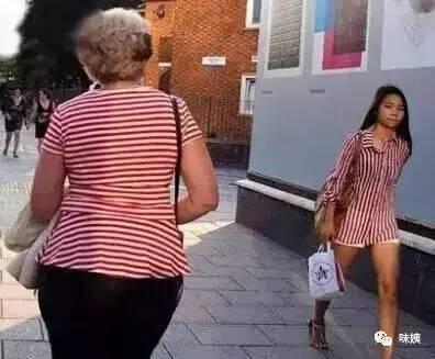 斤和120斤的妹子,穿同一件衣服有啥区别