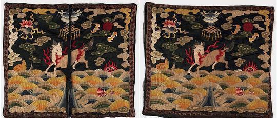 清朝官服上绣的动物,代表着地位高低!九品芝麻官的好象是小鸡