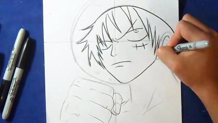 视频-动漫手绘:海贼王路飞绘画过程鉴赏,想学的收藏啦