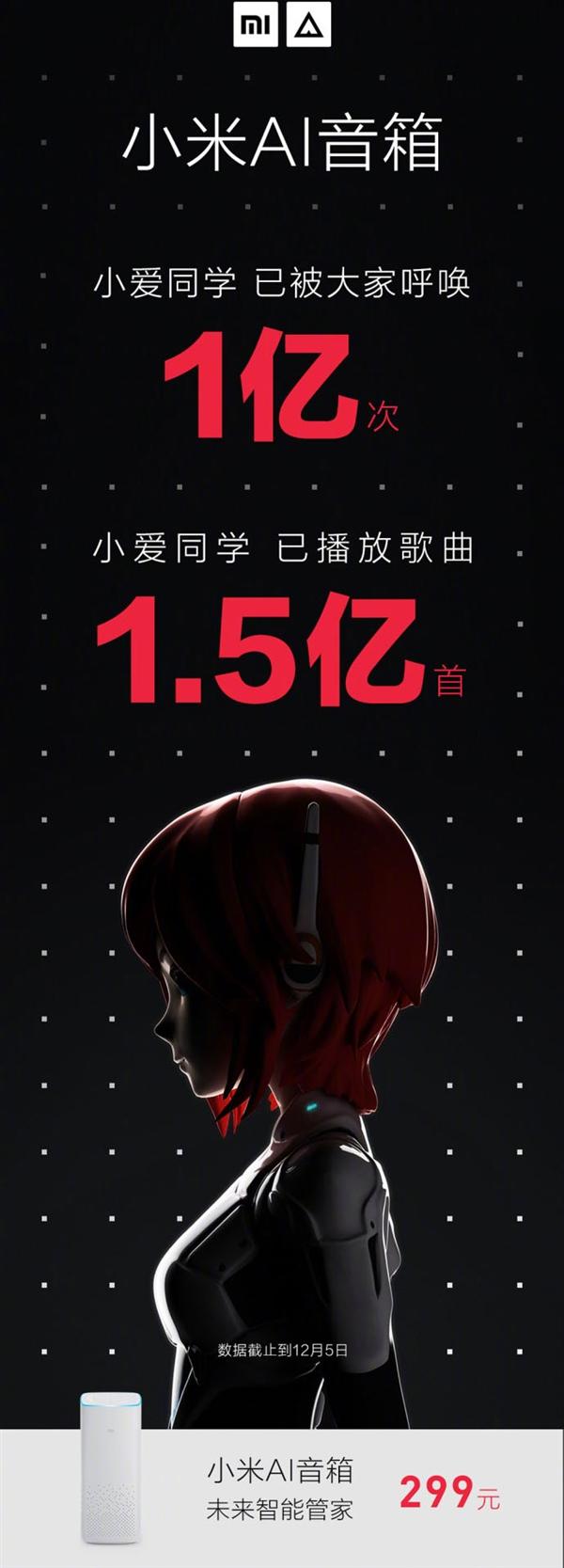 小米AI音箱破纪录:已被呼唤超过1亿次