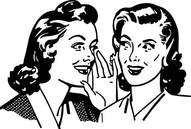 检验友谊的标准 就是两个人凑在一起说别人坏话!
