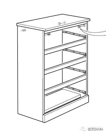 研究了一下柜体结构,宅sir发现,这款柜子之所以容易倾倒,主要因为