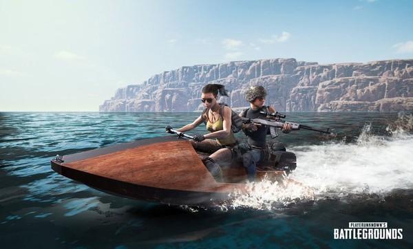 《绝地求生》新载具摩托艇公布 双人乘坐四处浪